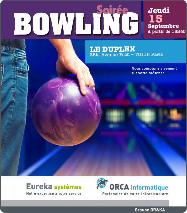 Soirée bowling le 15 Septembre 2016