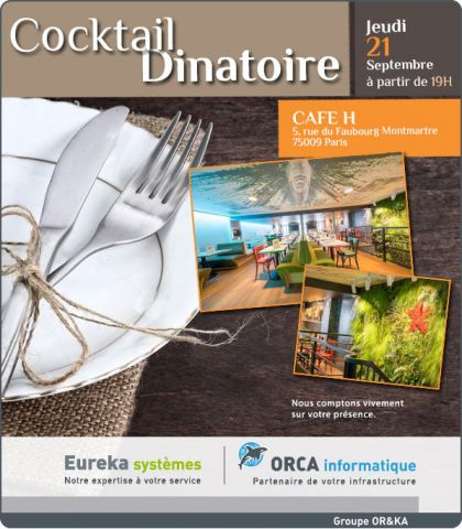Cocktail dinatoire – Jeudi 21 Septembre 2017 – CAFE H – Paris
