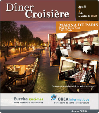 (Français) Dîner Croisière – Jeudi 7 Juin 2018